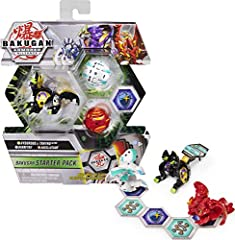 3 TRANSFORMING BAKUGAN: With 2 Bakugan and 1 Bakugan Ultra, begin the battle! Bakugan pop open when rolled across BakuCores and Ultra leap open, picking up BakuCores to reveal their hidden power! PREPARE TO BRAWL: The Starter Pack has everything you ...