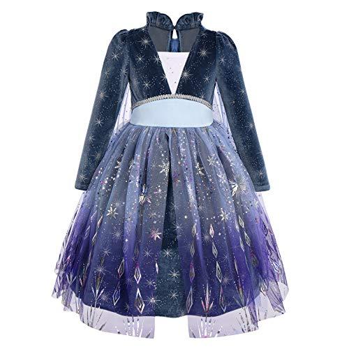IMEKIS Disfraz de Elsa Anna para nias de la reina de las nieves de Frozen, princesa, lentejuelas, copo de nieve, tut para cumpleaos, carnaval, cosplay