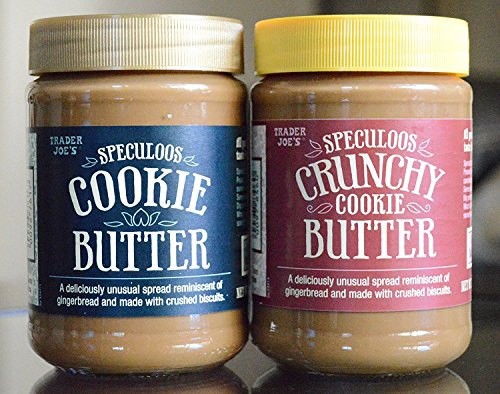 Trader Joe's Cookie Butter Variety Pack - Smooth Cookie Butter x1 and Crunchy Cookie Butter x1