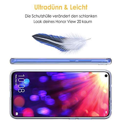 Beetop Huawei Honor View 20 Hülle Schutzhülle Ultradünn Handyhülle Transparent Weiche Silikon TPU Rückschale Case Cover für Huawei Honor View 20 - Durchsichtig - 6