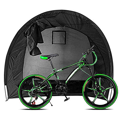 ZXYMUU Outdoor Bike Tent, 200CMX88CMX165CM Waterproof Thicken Fabric Bike Cover, Can Be Placed 1, 2 Bikes for Outdoor Bicycle Sundries Storage