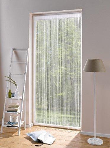 Fadenvorhang Weiße Perlen 90x220, Balkontür Insektenschutz Vorhang, Türvorhang