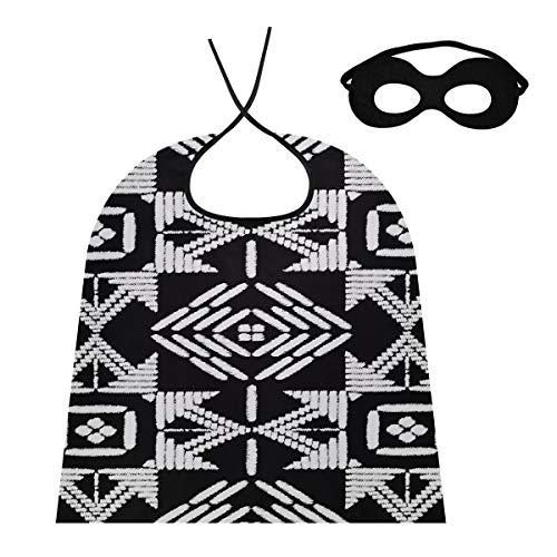 LMFshop Capes For Men Cosplay Aztec Bordado Diseño Seamless Vector Cape Cloak Hombres Hombre Capa para Niños / Adultos Disfraz De Vestir para Fiesta De Halloween Festival Cumpleaños
