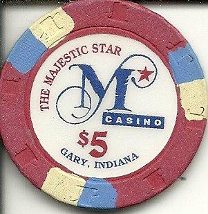 $5 majestic star casino chip gary indiana