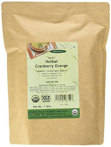 Davidson's Tea Bulk, Herbal Cranberry Orange, 16 Ounce