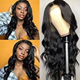 QTHAIR 14A 360 Lace Front Human Hair Wigs for Women Pre Plucked Hairline 150% Denisty Brazilian Body Wave Lace Front Wigs with Baby Hair Natural Color (22Inch)