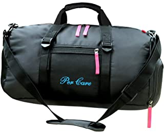 Lage Size Wet Dry Separate Swimming Bag Sports Gym Bag with Shoes Compartment Travel Duffel Bag for Men and Women (Pink)