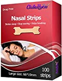 OntaRyon Nasal Strips (x100 Large) Right Aid to Stop Snoring | Anti Snore
