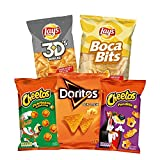 PepsiCo - Pack Snacks Party: 15 Bolsas Surtido de Snacks - Bocabits (3), Cheetos Pandilla (3), Cheetos Pelotazos (3), Doritos Tex-Mex (3), Lay's 3D's (3) - 534 g