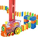 N / A Domino Train Toy 80pcs Domino Train, Kids Children Domino Rally Train Toy with Light Sound Set Colored Electric Train Automatic Brick Laying Toy Set For Children masterwork