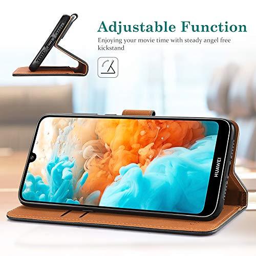 GeeRic Kompatibel Für Huawei Y6 2019 Hülle, [Standfunktion] [Kartenfach] [Magnet] [Anti-Rutsch] PU-Leder Schutzhülle Brieftasche Handyhülle Kompatibel Mit Huawei Y6 2019 Schwarz - 4