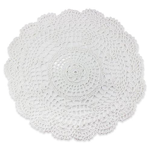 PsmGoods® handgemaakte katoenen kant placemats ronde Crochet bloemen onderzetter deken