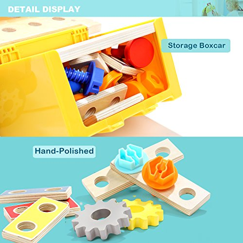 TOP BRIGHT Toddler Tools Set Toys for 2 3 Year Old Boy Gifts Kids Toy Truck