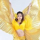 AQY nueva alta calidad color dorado danza del vientre alas, con libre de incienso