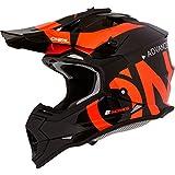 O'NEAL | Casco Motocross | Bambini | MX | Guscio ABS, Standard di sicurezza ECE 22.05, Prese d'aria per una ventilazione ottimale e raffreddamento | Casco 2SRS Youth Slick | Nero Arancione | Taglia M
