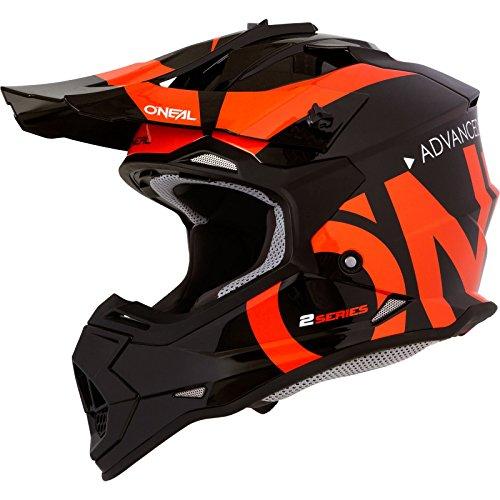 O'NEAL | Motocross-Helm | Kinder | MX Enduro | ABS-Schale, Sicherheitsnorm ECE 22.05, Lüftungsöffnungen für optimale Belüftung & Kühlung | 2SRS Youth Helmet Slick | Schwarz Orange | Größe L