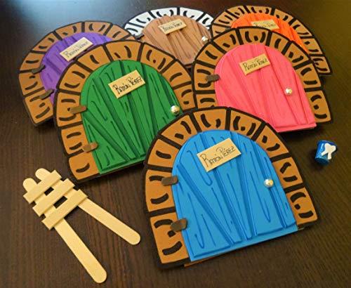 La puerta mágica del ratoncito Pérez personalizable. Incluye escalera y cubito para diente: Amazon.es: Handmade