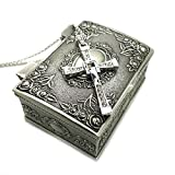 Ruimeng Silver Plated Fast & Furious Dominic Toretto's Cross Necklace with Jewelry Box (Silver) Christmas Gifts