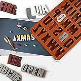 popchilli 26 Englische Buchstaben Schokoladenformen, Pralinenform, Schokoladenform, Giessform, Silicone Mold, Kindergeburtstag, Alphabet, Abschiedsfeier, Kuchenverzierung, Lesen, Positive