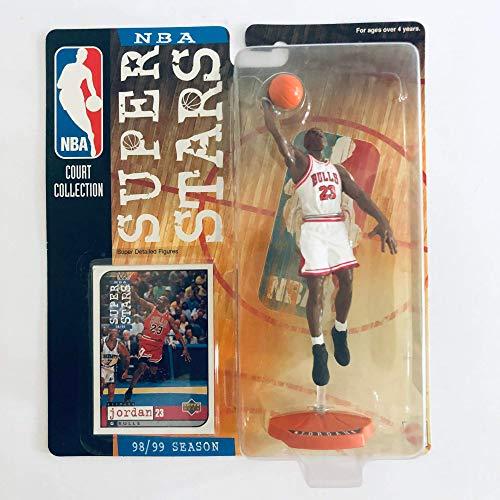 Mattel NBA Super Star Figure 1998-99 Edition - Michael Jordan (White Chicago Bulls Jersey)