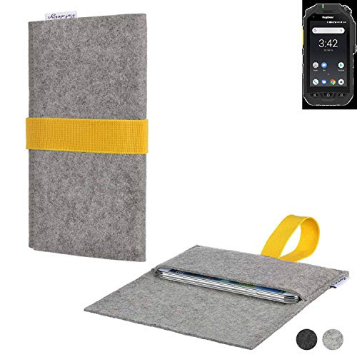 flat.design Handy Hülle Aveiro für Ruggear RG725 handgefertigte Filz Tasche Case Sleeve fair