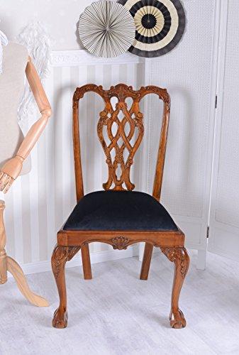 Vintage Esszimmerstuhl Chippendale Stuhl Mahagoni Antik Stil Palazzo Exklusiv