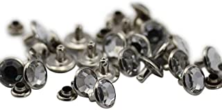 8mm Crystal Clear H102 Acrylic Rhinestone Rivets for Garments Leather, Sewing and Crafts DIY Jewelry Making in Bulk Bracel...