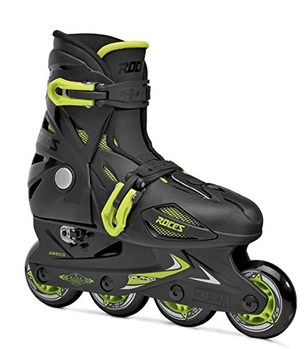 Roces Kinder Inline-skates Orlando 3, black-lime, 36-40, 400687