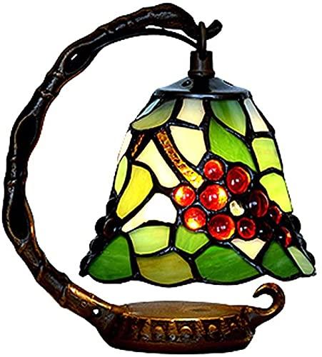 TOPNIU Lámparas de Escritorio Artesanal lámpara lámpara lámpara Tiffany Estilo Resina Cristal Natural restauración Antiguas Maneras de la UVA patrón W15H20CM