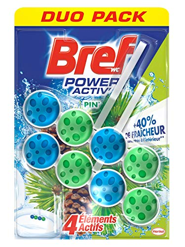 Bref WC Power Activ' Pin Duo Packs – Lot de 10 blocs WC (5 x 2x50g) – Nettoyants WC
