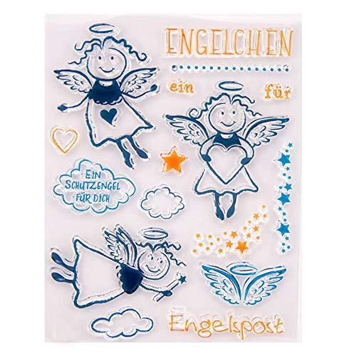 Angel met hart liefde Sparkle Stars Rubber duidelijke stempel/Seal Scrapbook/fotoalbum decoratieve kaart maken duidelijke stempels