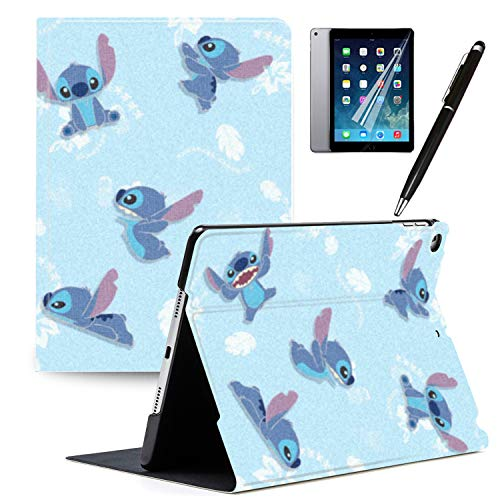 Y2PKZISTORE iPad 2018(6th Gen) iPad 2017(5th Gen) Case Cartoon Lilo & Stitch Cartoon Protection Lightweight PU Leather Smart Auto Sleep/Wake Cover Also Fit iPad Air 2 / iPad Air#9