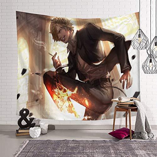 Decoración para sala de estar, dormitorio, sofá, decoración de anime, una pieza, Vinsmoke Sanji Boutique Art Tapiz para colgar en la pared del hogar 210 x 150 cm