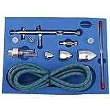 Set de aerógrafo profesional G-186K Kit de aerógrafo de alimentación por gravedad de doble acción y multiuso con punta de 0.2mm / 0.3mm / 0.5mm para Spray Auto Graphics Art Crafts