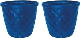 garden pots blue