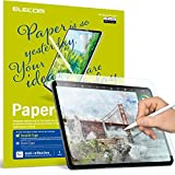 ELECOM Pencil-Feel Screen Protector Designed for Drawing, Anti-Glare Scratch-Resistant Bubble-Free, Compatible with 12.9' iPad Pro 2018/2020 (TB-A18LFLAPLL-W)