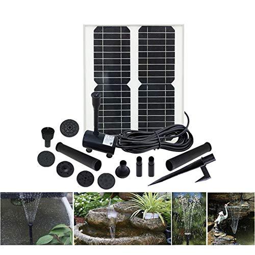 FYLY-Solar Springbrunnen, Solarbetriebene Springbrunnenpumpe Mit 30W Solarpanel und Sprinklerköpfe Kit, Für Vogelbad, Aquarium, Teich Oder Gartendekoration