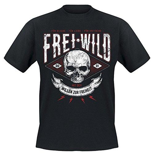 Frei.Wild - Willen zur Freiheit T-Shirt, Farbe: Schwarz, Größe: XL