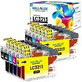 Hallolux LC3213 Compatible Cartuchos de Tinta para Brother LC-3213 LC3211 para DCP-J572DW MFC-J497DW DCP-J772DW DCP-J774DW MFC-J491DW MFC-J890DW MFC-J895DW (4 Negro, 2 Cian, 2 Magenta, 2 Amarillo)