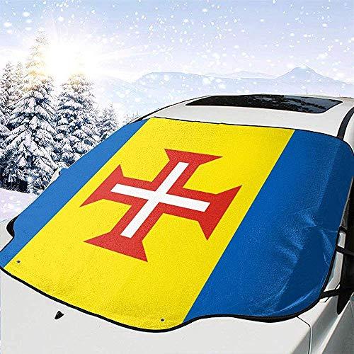 Night-Shop Flagge von Madeira Universal Auto Frontscheibe Visier Cover Block Sun Heat Schnee wasserdicht mit individuell Bedruckt
