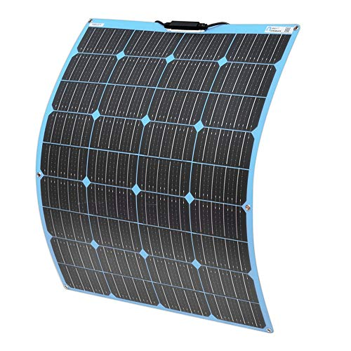 YUANFENGPOWER 100w 18v Flexibles Solarpanel monokristallines Solarmodul für Boot, Yacht, Camping, Caravan, Wohnmobil, 12v Batterieladen (Blau)