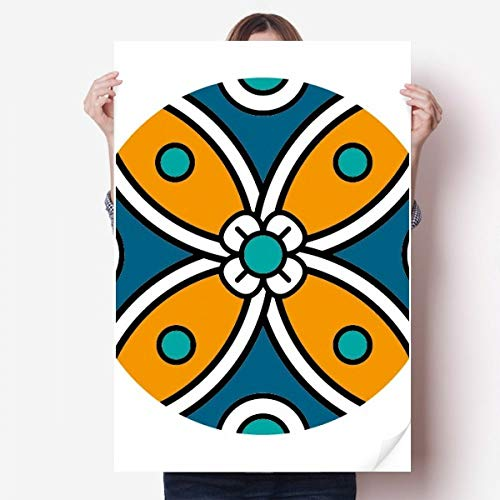 DIYthinker Abstract Bloem Marokko Stijl Patroon Vinyl Muursticker Poster Fotobehang Kamer Decal 80X55Cm