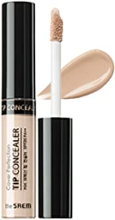[the SAEM] Cover Perfection Tip Concealer SPF28 PA++ 6.5g - High Adherence Concealer without Clumping and Cracking, Covers Blemishes, Freckles and Dark Circles #0.5 Ice Beige