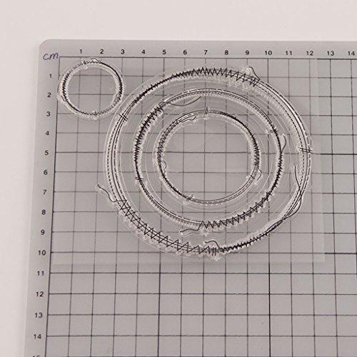 ECMQS DIY Kreis Transparente Briefmarke, Silikon Stempel Set, Clear Stamps, Schneiden Schablonen, Bastelei Scrapbooking-Werkzeug