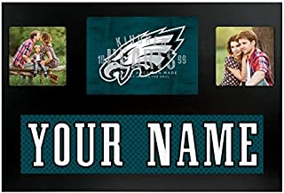 Philadelphia Eagles NFL Custom Jersey Nameplate and Logo Picture Frame