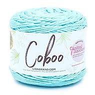 Lion Brand Yarn Coboo Yarn, Ice Blue