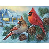 Bits and Pieces - 500 Piece Jigsaw Puzzle for Adults - Winter Cardinals