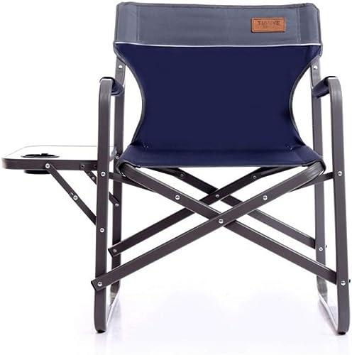Limeinimukete Table Pliante portative de Loisirs de Chaise de Plage et Chaise de pêche de Chaise (Couleur   Bleu)
