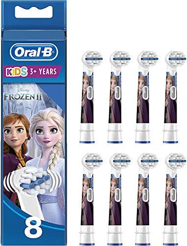 Oral-B Testine di Ricambio KIDS Frozen per Spazzolino Elettrico Ricaricabile, Confezione da 8