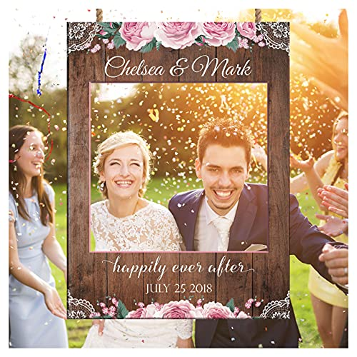 Wedding Props  Selfie Frame for Wedding Pictures  Size 24x36  48x36  Custom Social Wedding Anniversary Photo Booth Prop  Wedding Memories Booth  Handmade DIY Party Supply Photo Booth Props